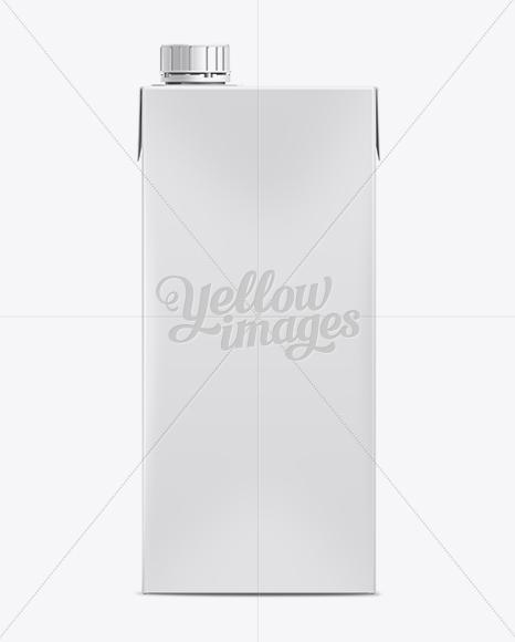 1L Milk Carton Package Mockup