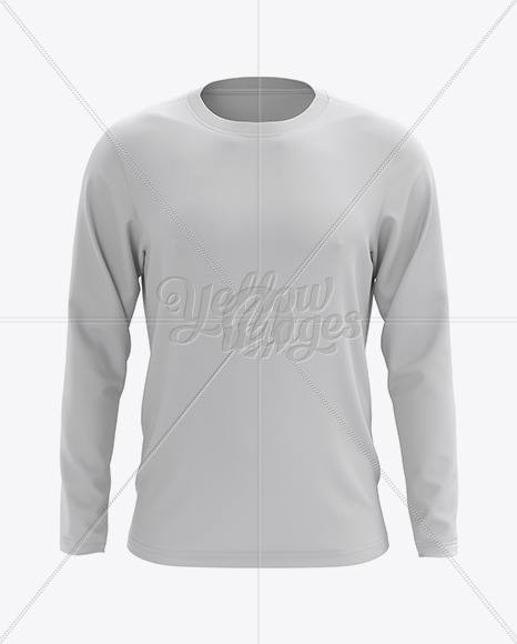 Download Mens Long Sleeve T Shirt Hq Mockup Front View In Apparel Mockups On Yellow Images Object Mockups Yellowimages Mockups
