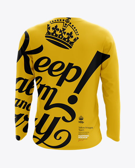 Mens Long Sleeve T-Shirt HQ Mockup - Back View