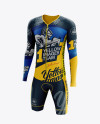 Men's Cycling Speedsuit LS mockup (Half Side View)