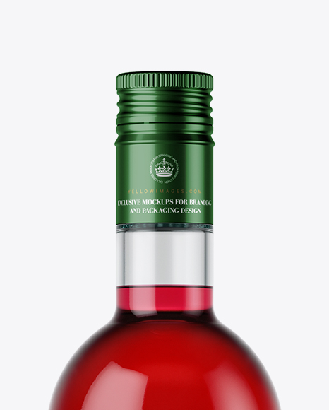 Download Clear Glass Bottle With Red Liquor Mockup In Bottle Mockups On Yellow Images Object Mockups PSD Mockup Templates