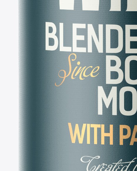 Green Glass Bottle with Whiskey Mockup