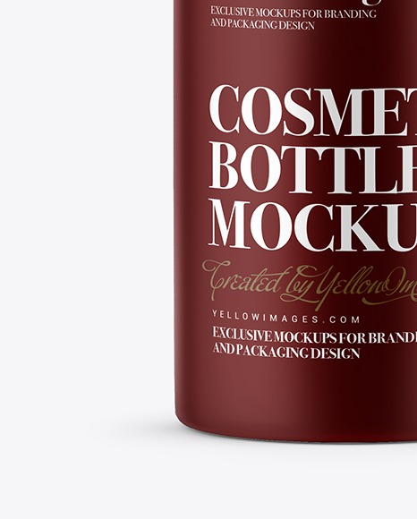 Matte Cosmetic Bottle with Batcher Mockup