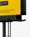 Billboard Mockup - Right Half Side View