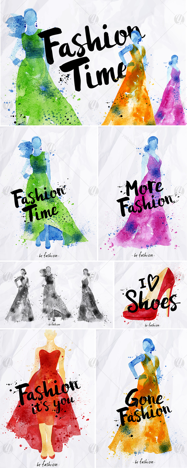 Watercolor Poster Fashion