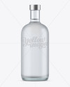 700ml Frosted Glass Vodka Bottle Mockup