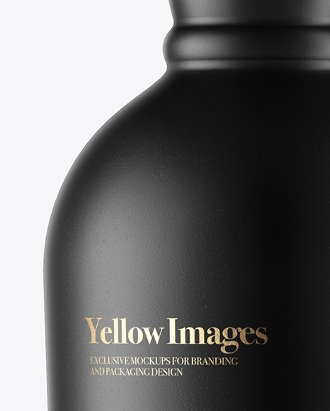 Download 330ml Matte Ceramic Bottle Mockup Front View PSD - Free PSD Mockup Templates