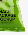 Glossy Snack Bag Mockup