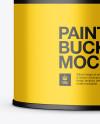 1L Metallic Paint Bucket Mockup