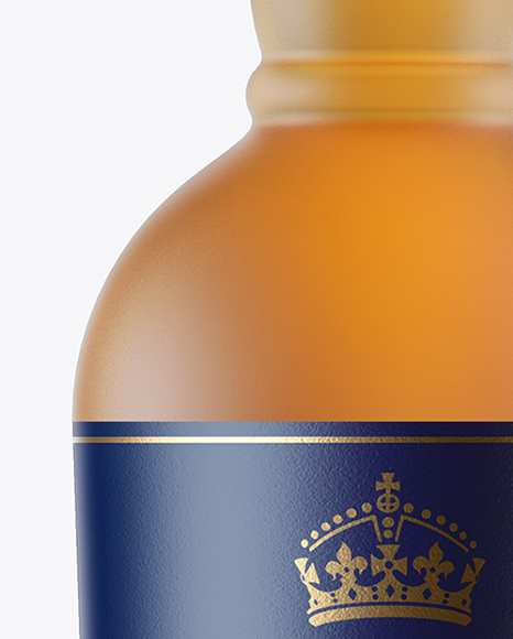 Frosted Glass Whiskey Bottle Mockup