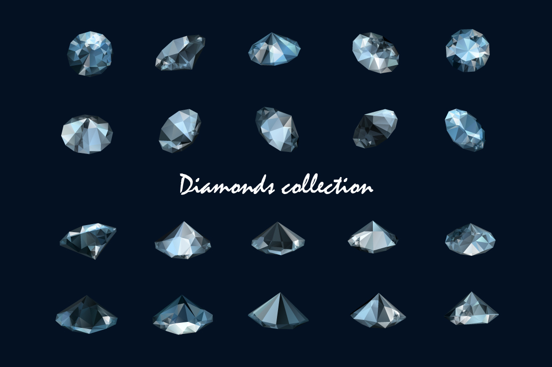 Vector diamonds collection