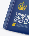 Triangular Carton Package Mockup - Half Side View