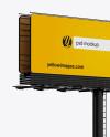 Billboard Mockup - Halfside View