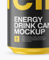 330ml Aluminium Can with Matte Finish Mockup