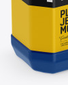 Plastic Jerrycan W/ Screw Cap Mockup - Half Side View (High-Angle Shot)