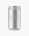330ml Metallic Aluminium Can Mockup