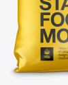 Matte Metallic Bag Mockup - Front View