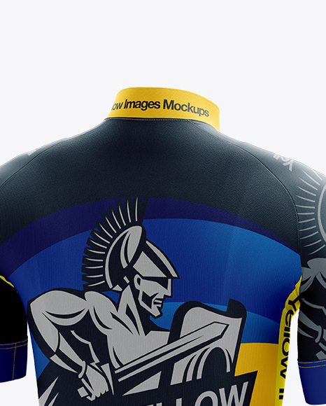 Men's Cycling Kit mockup (Back Half Side View)