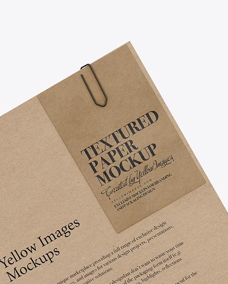 Paper A4 Mockup Free