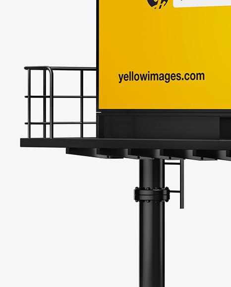 Billboard Mockup - Right Half Side View