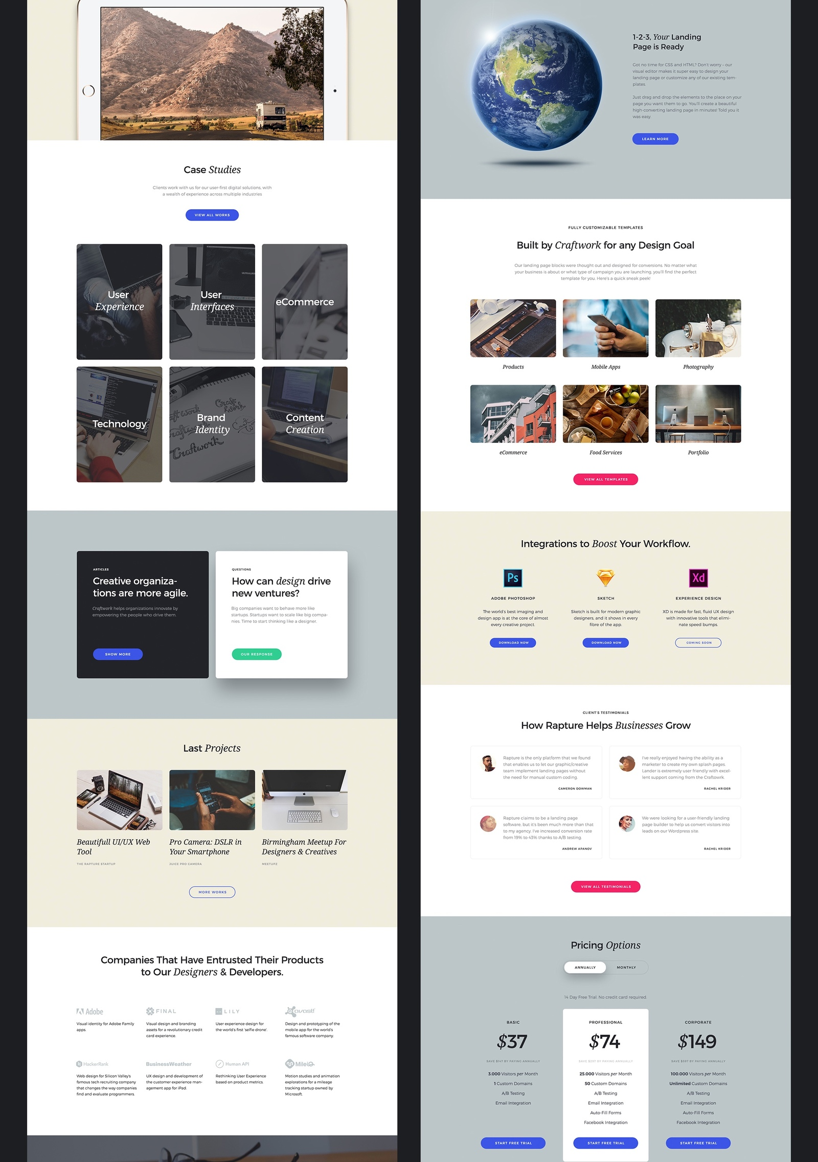 The Rapture Startup UI Kit