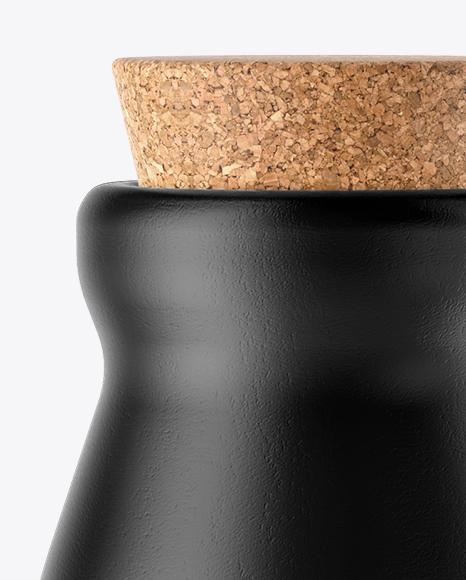 Ceramic Milk Bottle With Cork Mockup