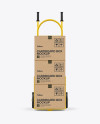 Hand Truck With Boxes Mockup - Front View