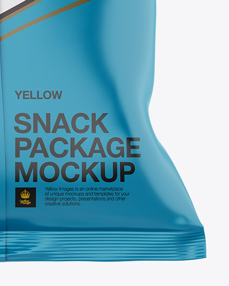 Matte Snack Bag Mockup - Back View