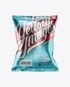 Metallic Snack Bag Mockup - Back View