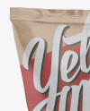 Kraft Snack Bag Mockup - Back View