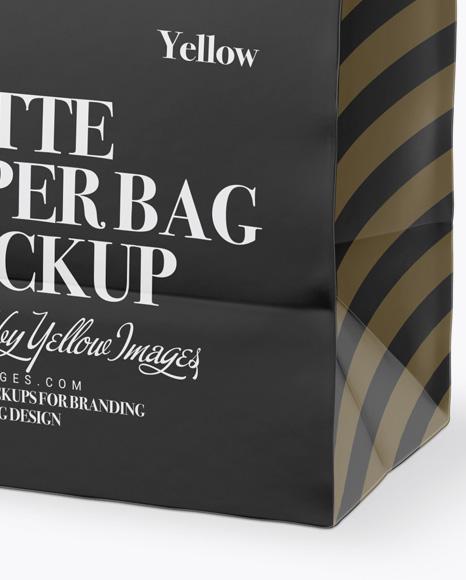 Matte Paper Bag Mockup - Half Side View