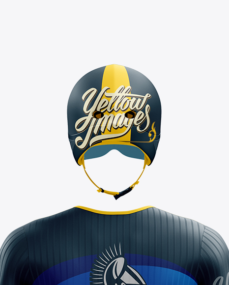 Download Mens Cycling Speedsuit Ls Mockup Back View Yellow Images