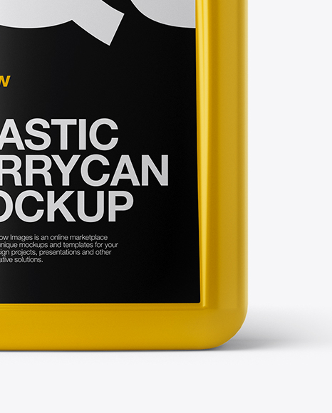 Glossy Plastic Jerrycan Mockup