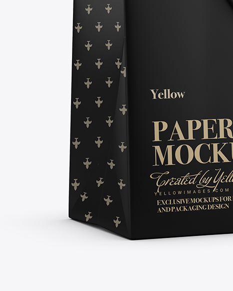 Matte Paper Shopping Bag With Rope Handle Mockup