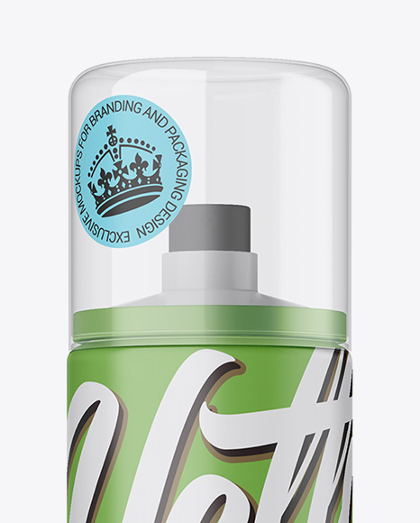 Matte Spray Bottle W/ Ttransparent Cap Mockup