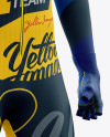 Men's Full Cycling Time-Trial Kit mockup (Hero Shot)