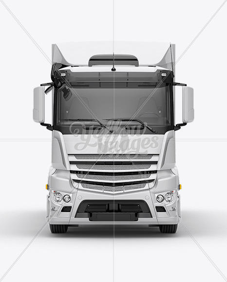 Download Truck HQ Mockup Front View Free Mockups