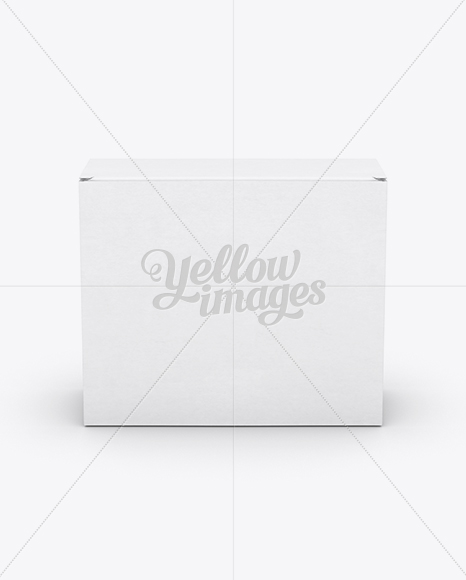 Small White Cardboard Box Mockup - Front View (High-Angle Shot)