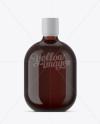 Amber Glass Rum Bottle Mockup