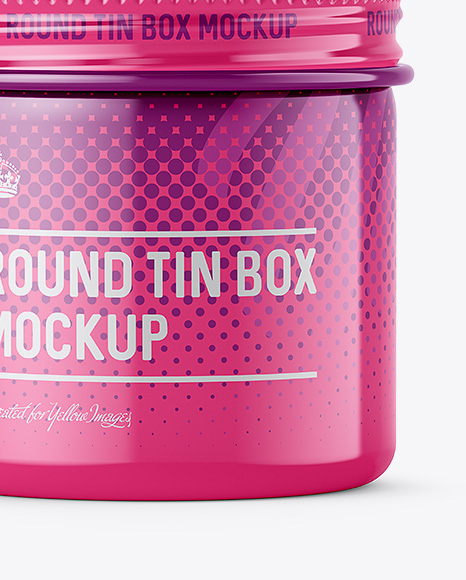 Download 50ml Open Round Tin Box With Matte Finish Mockup Front View PSD - Free PSD Mockup Templates