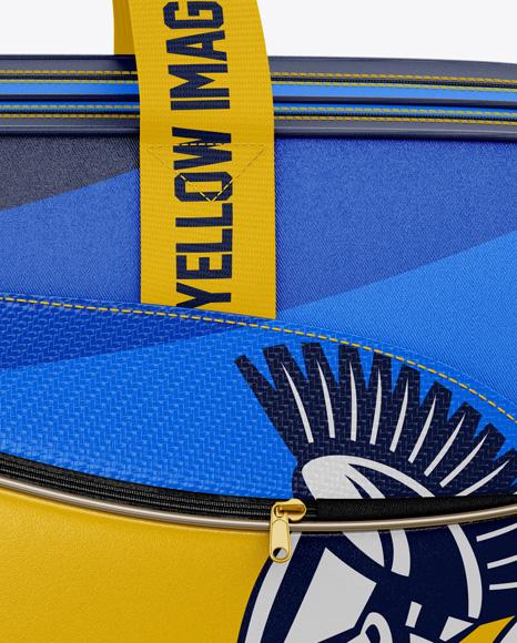 Badminton Bag Mockup Side View In Apparel Mockups On Yellow
