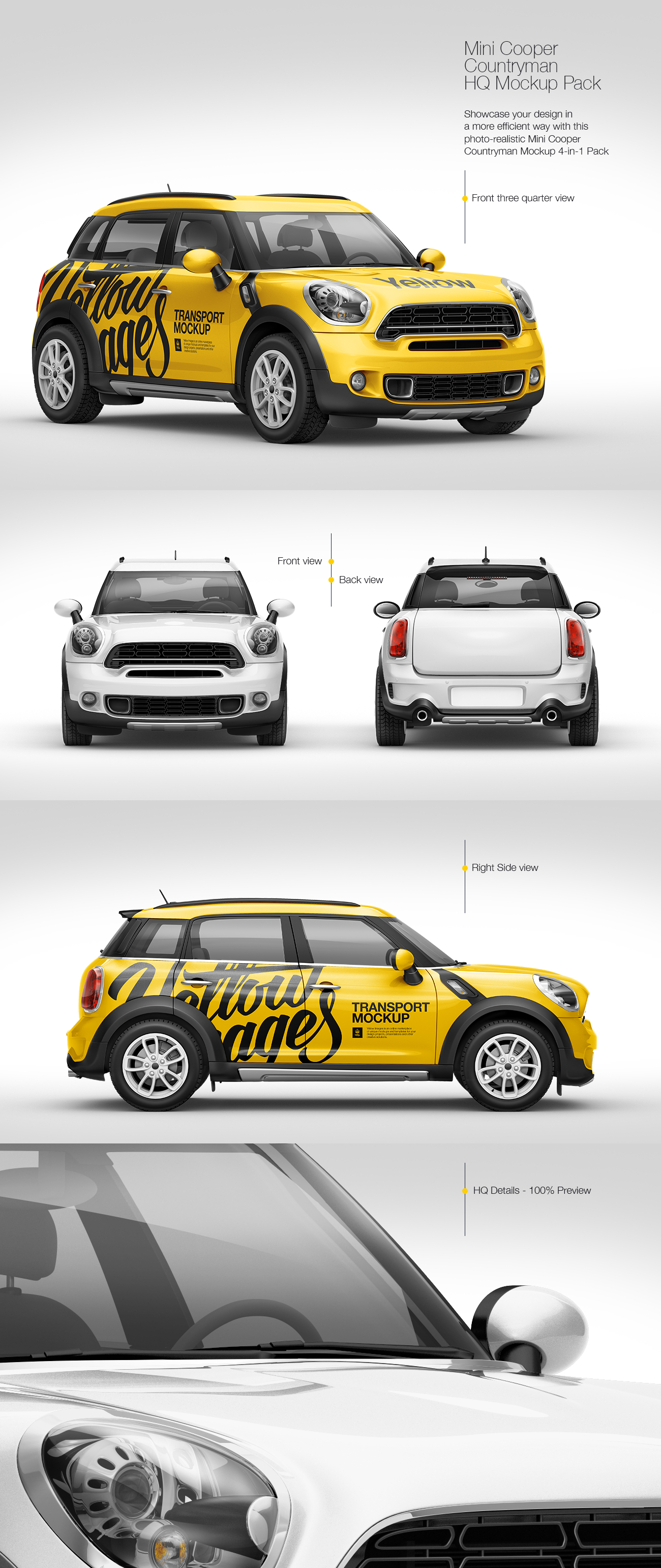 Mini Cooper Countryman HQ Mockup Pack