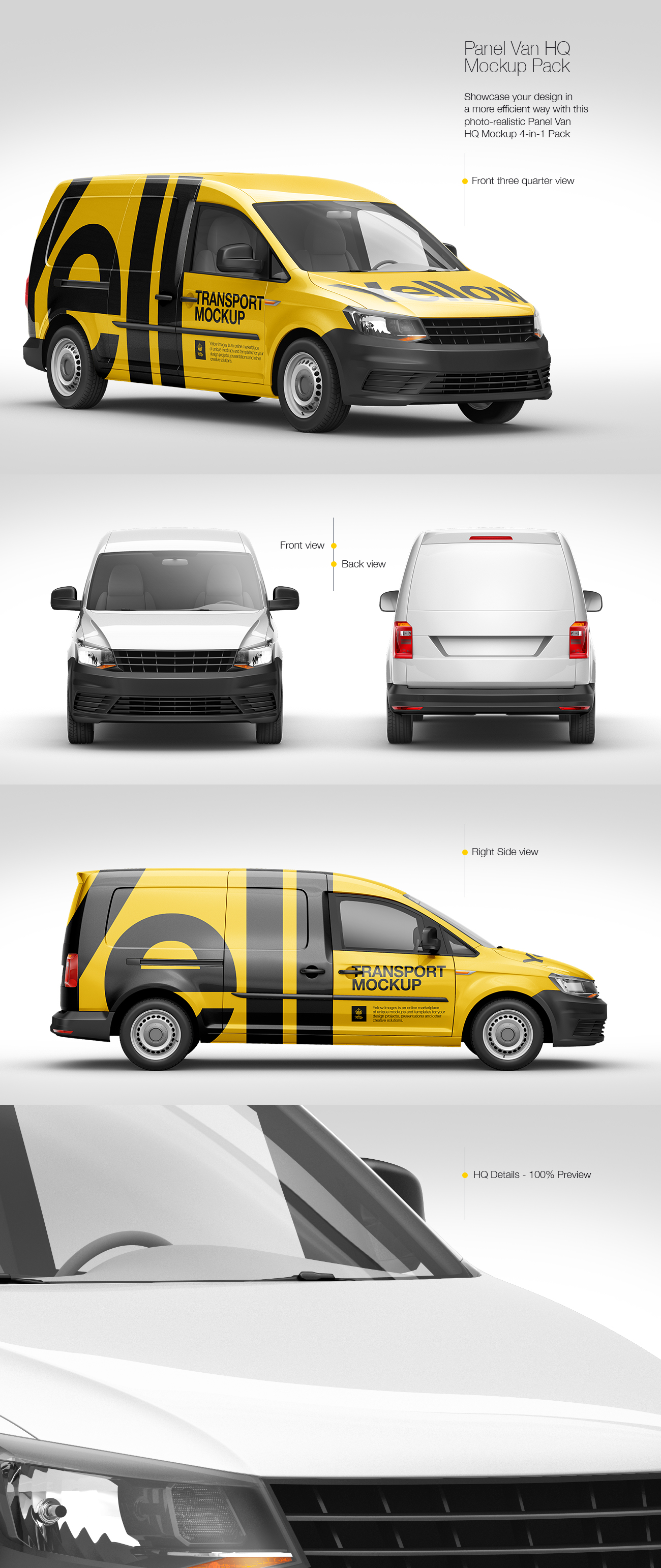 Panel Van HQ Mockup Pack