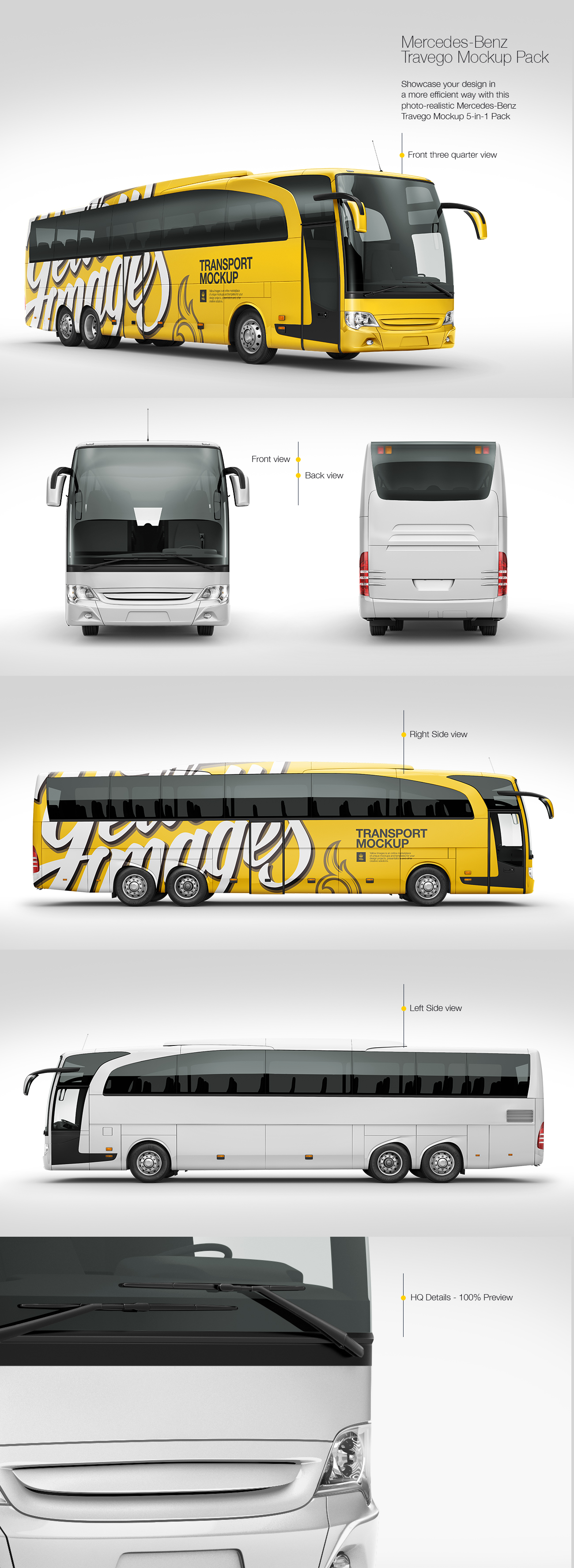 Mercedes-Benz Travego Mockup Pack
