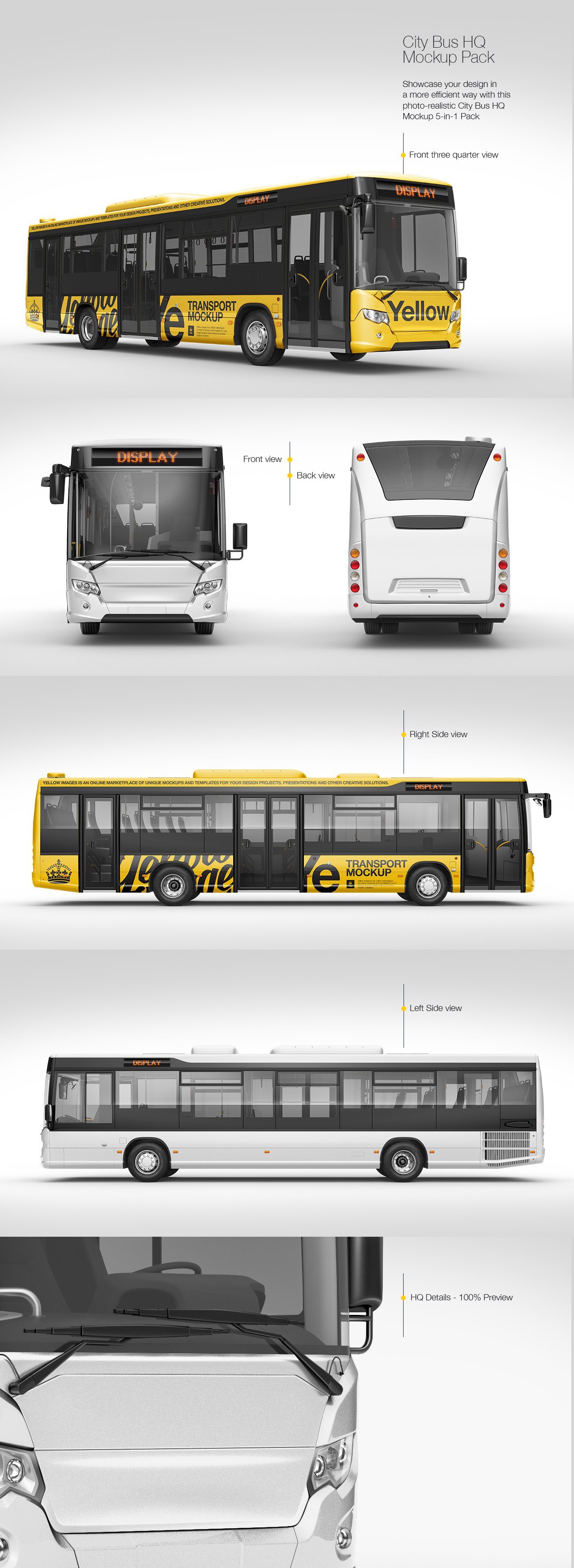 City Bus HQ Mockup Pack