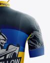 Men's Full Cycling Kit mockup (Back View)