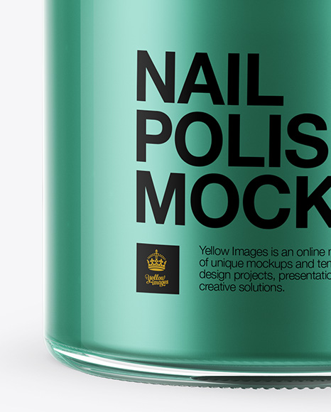 Nail Polish Bottle with Matte Cap Mockup - Front View