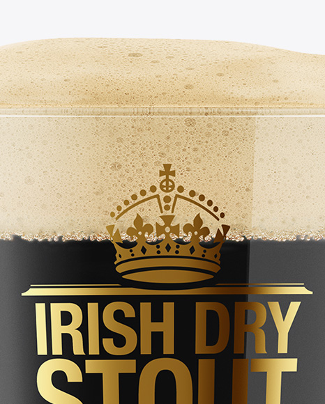 Irish Dry Stout Beer Glass Mockup