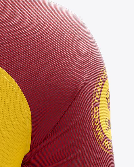 Men's Soccer Team Jersey mockup (Back View)