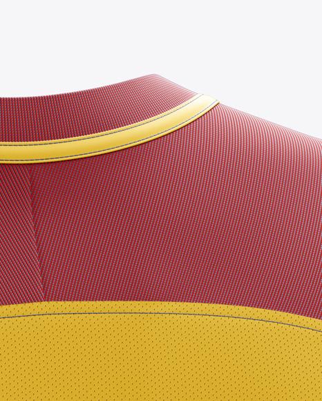 Men's Soccer Team Jersey mockup (Back Half Side View)